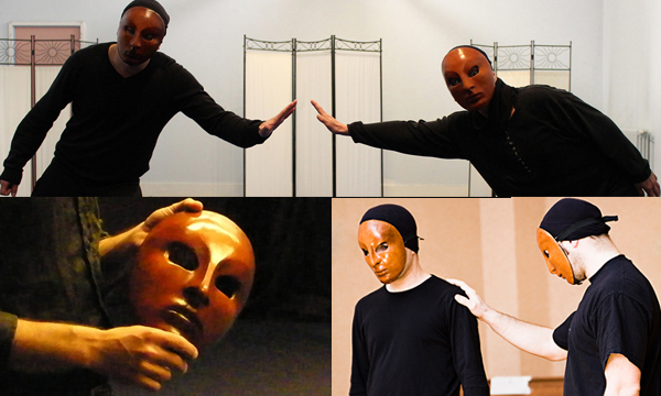 Atelierforian - acting class - exercices with neutral masks.