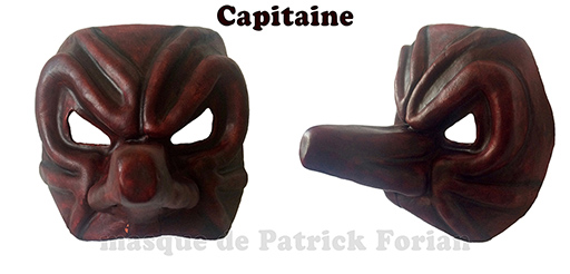 Masque du Capitaine, personnage de la commedia dell'arte