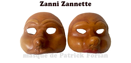 duo de Zanni, personnages de la commedia dell'arte