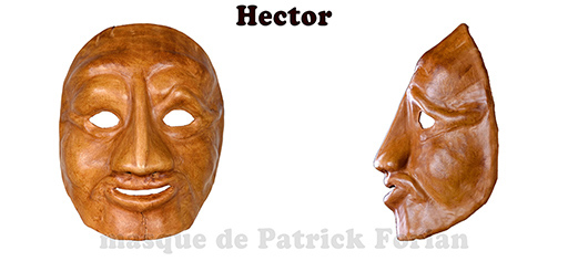 Hector, expressive full mask