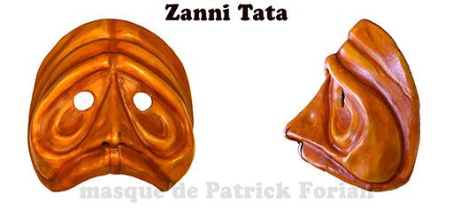 Masque de Zanni, personnage de la commedia dell'arte