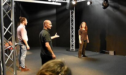 Masterclass Le jeu masqué, Patrick Forian dirige les comédiens