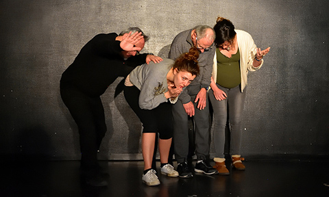 improvisation workshop : body expression ; 4 actors composition